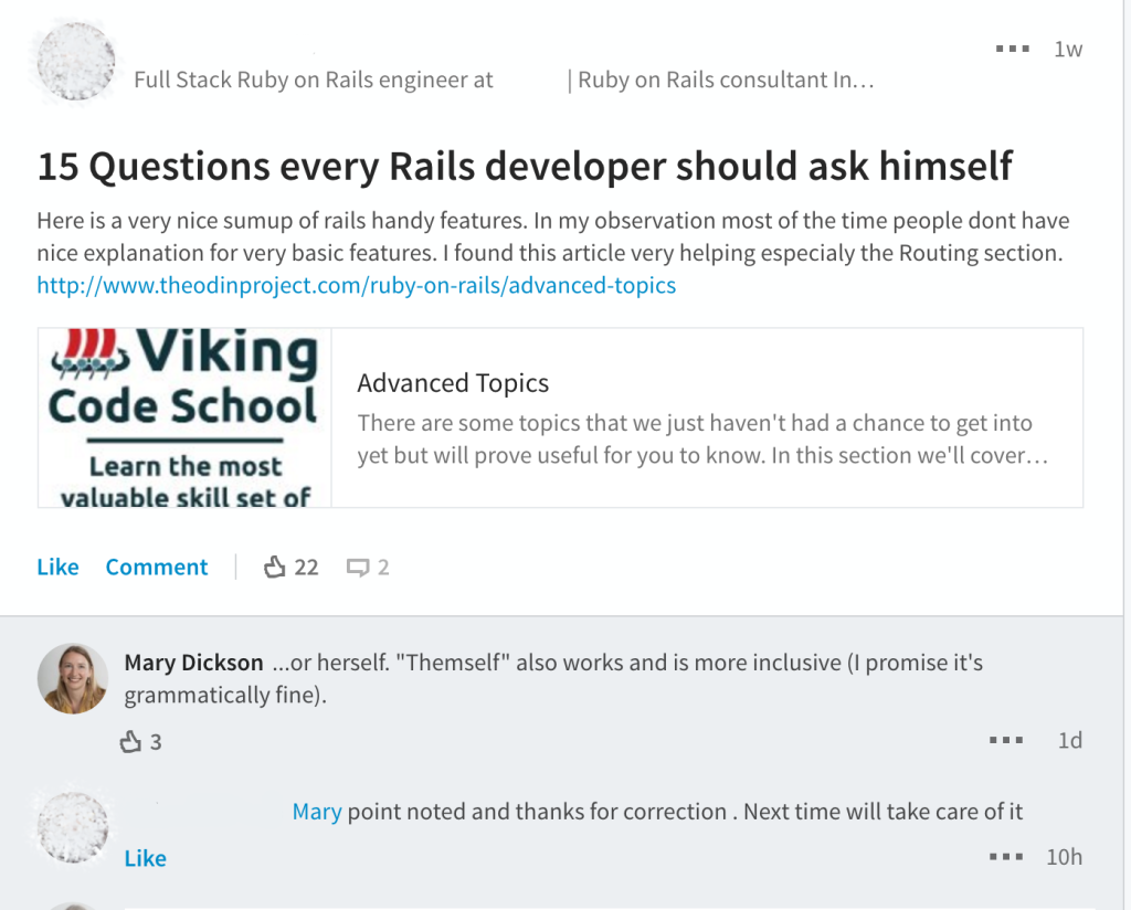 "A blog post titled ""15 questions every Rails developer should ask himself"""